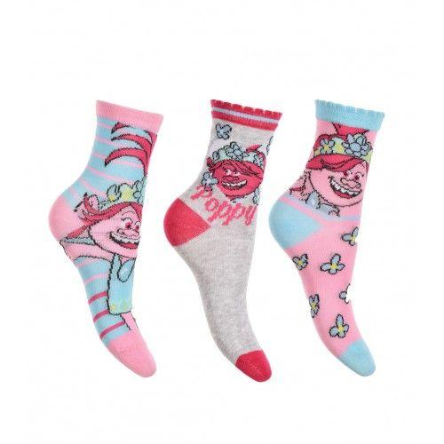 Κάλτσες TROLLS 3 ζευγάρια ΣΕΤ, γκρι