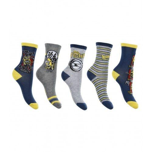 Κάλτσες MINIONS 5 ζευγάρια ΣΕΤ